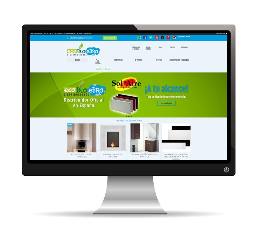 Diseño web para Ecobioebro - Msalas Kreación