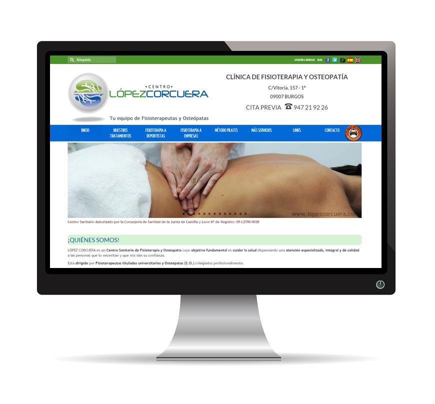 Diseño web para Lopez Corcuera - Msalas Kreación