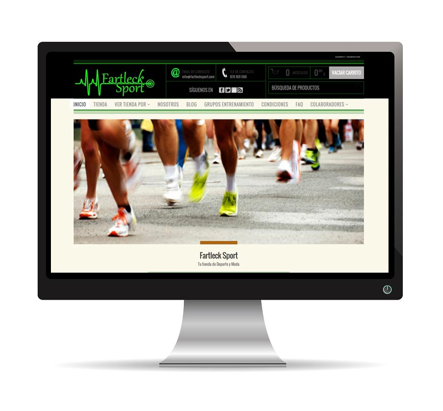 Diseño web para Fartleck Sport - Msalas Kreación