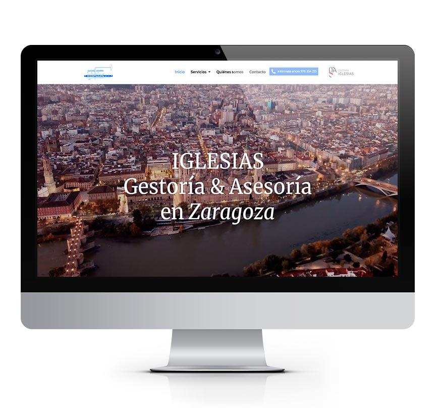 Gestoría Iglesias en Zaragoza diseño msalaskreación web
