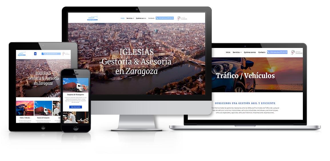 Gestoría Iglesias en Zaragoza diseño msalaskreación