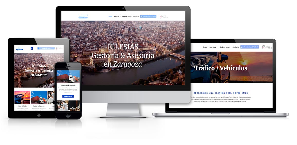 Web corporativa diseño con Elementor
