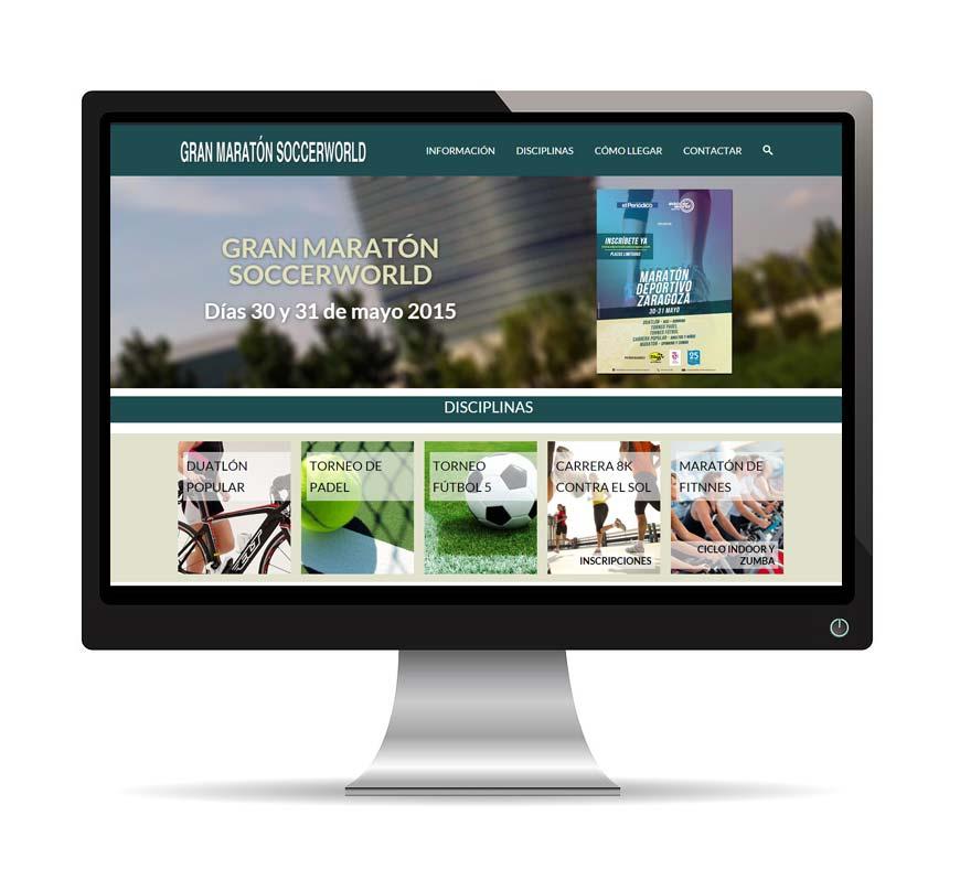 Diseño web para granmaraton-soccerworld - Msalas Kreación