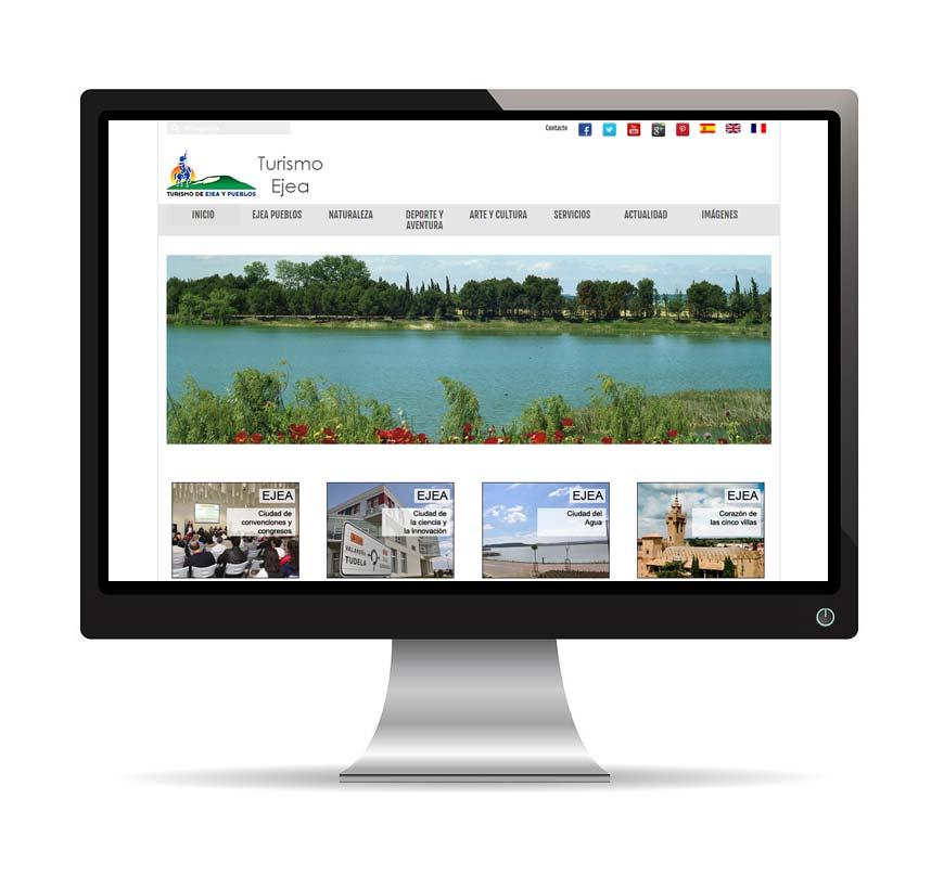 Diseño web para Turismo Ejea - Msalas Kreación