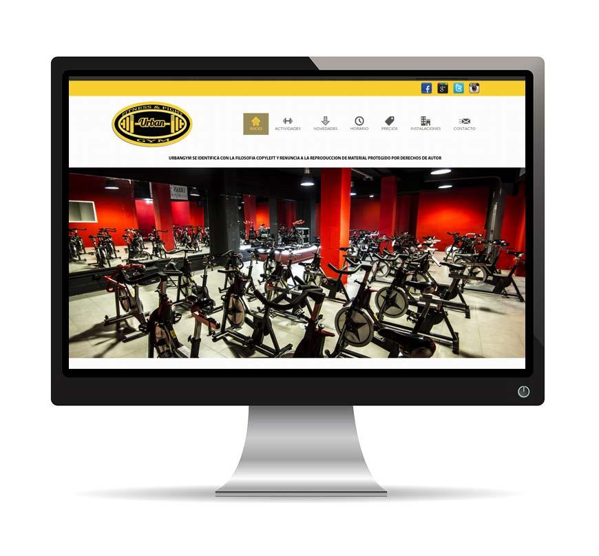 Diseño web para Urban Gym - Msalas Kreación