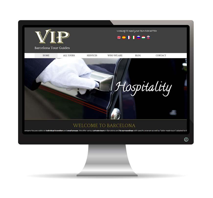 Vip Barcelona Tour Guides , diseño web - Msalas Kreación