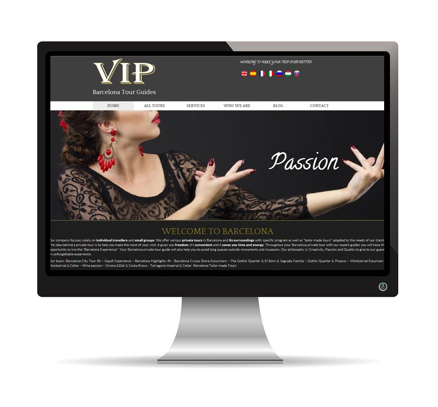 Diseño Web para Vip Barcelona Tour Guides