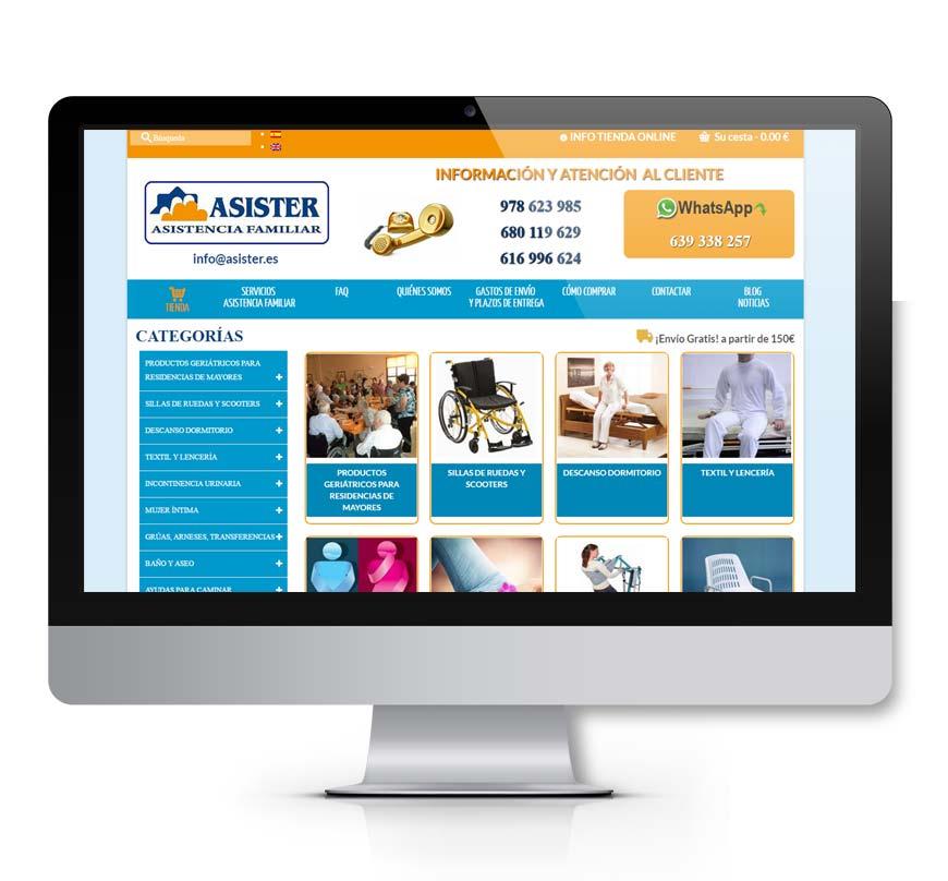 Asister Tienda online ortopedia - Msalas Kreación