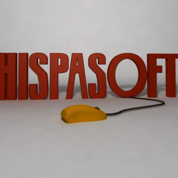 Hispasoft logo 3D