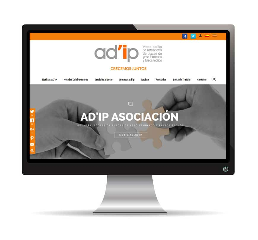 Ad'IP asociación, diseño web - Msalas Kreación
