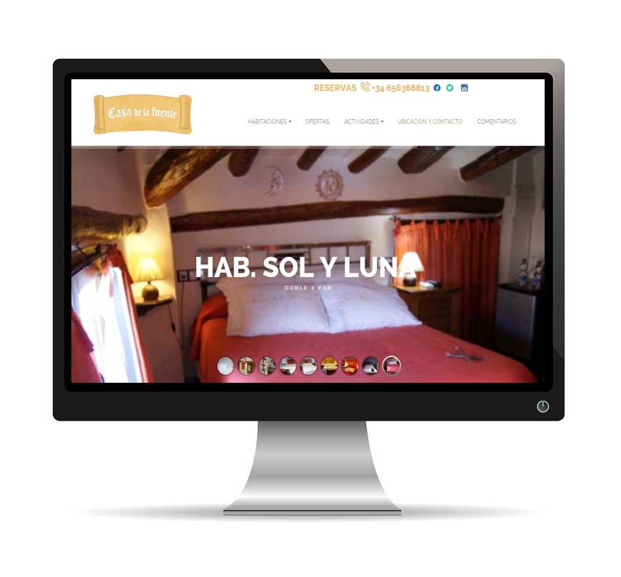 diseño web Casa de la Fuente - Msalas Kreación