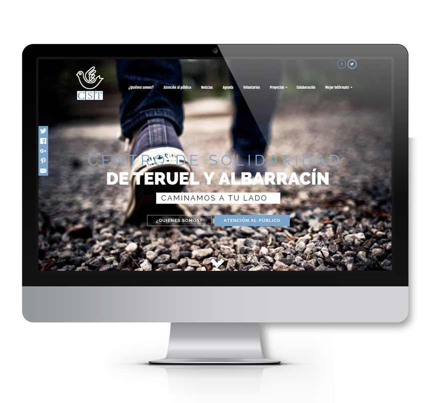 Centro de Solidaridad Teruel diseño web - Msalas Kreación