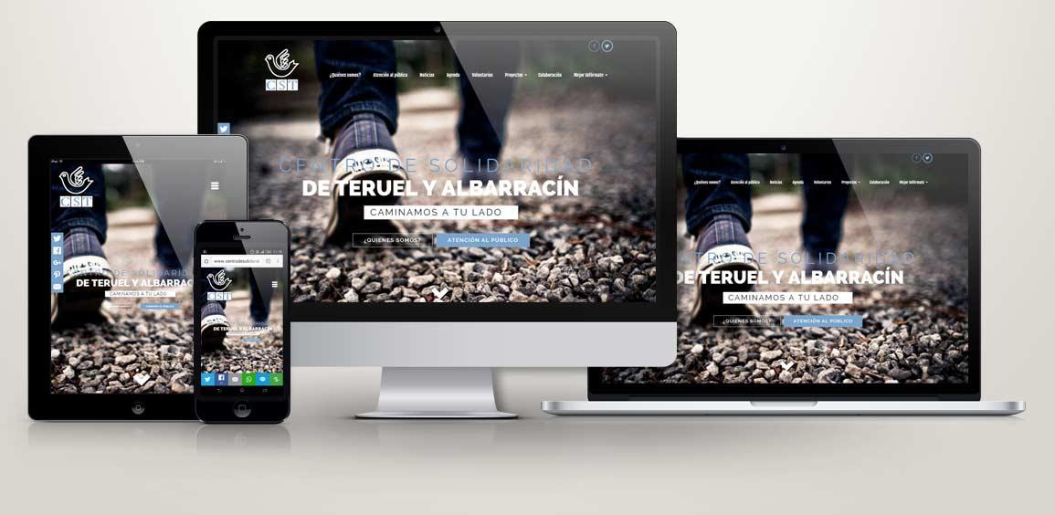 Diseño responsive para Centro de Solidaridad Teruel