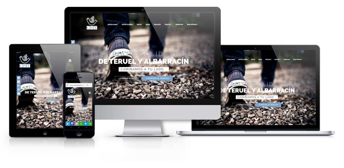 Diseño web responsive para Centro de Solidaridad Teruel - Msalas Kreación