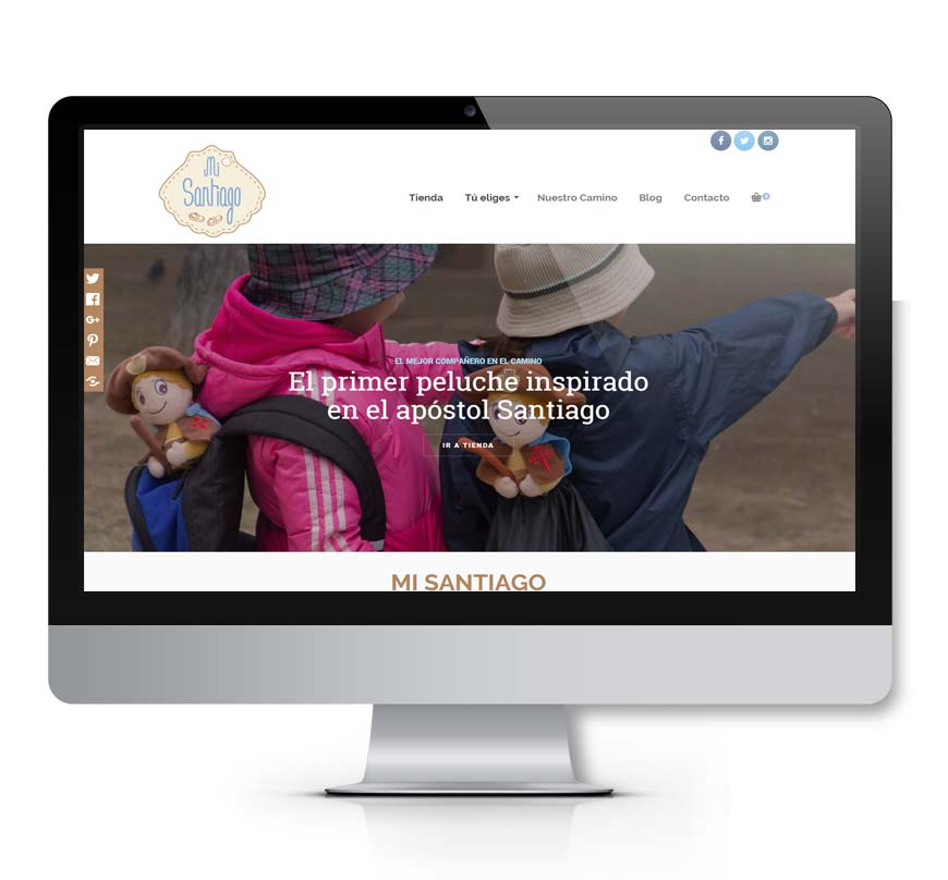 peluche mi santiado diseño web msk