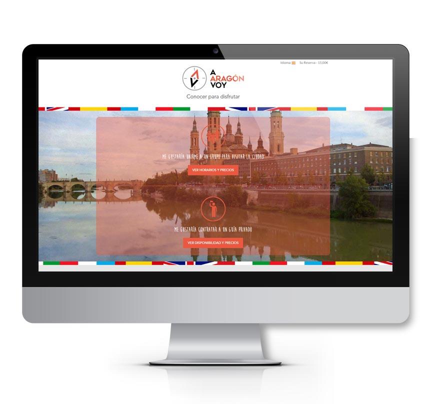 A Aragón voy Diseño web - Msalas Kreación