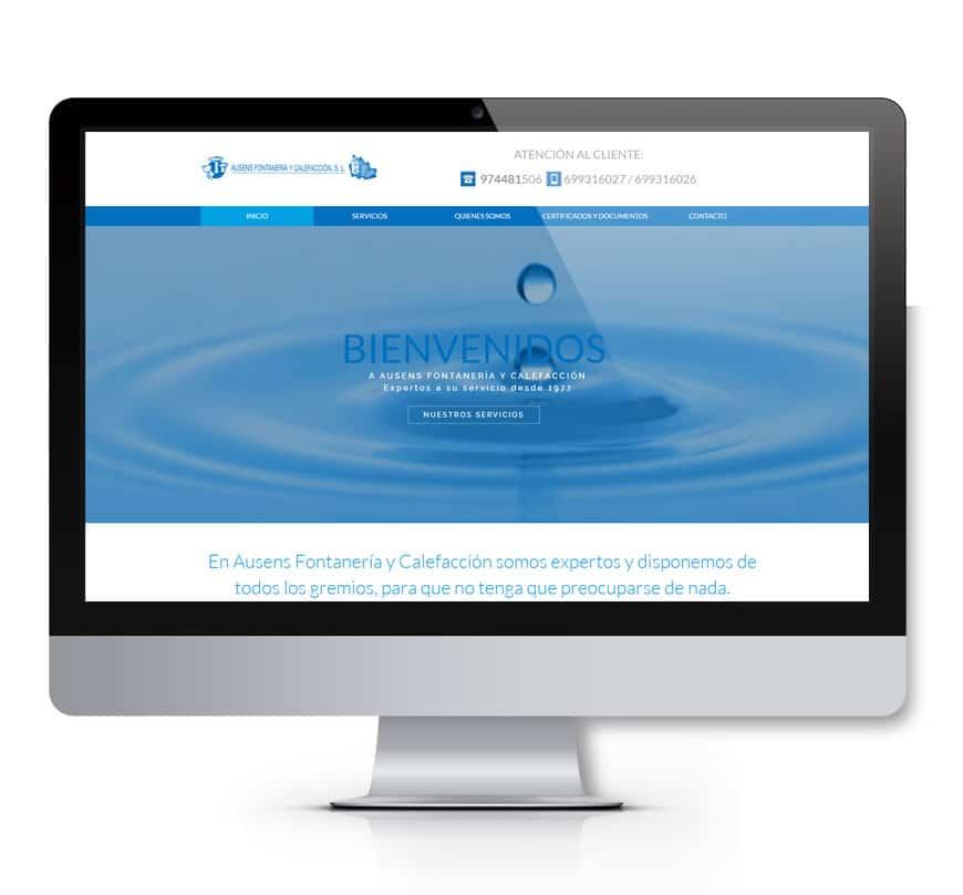 Ausens Fontanería Diseño web - Msalas Kreación