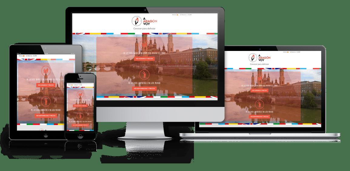 Diseño web A Aragón voy - Msalas Kreación