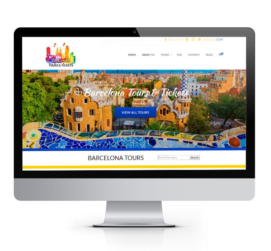 Diseño Web Barcelona Tours & Tickets 2 - Msalas Kreación