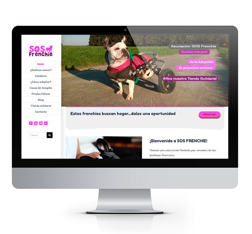 Asociación SOS Frenchie Diseño web Msalas Kreación