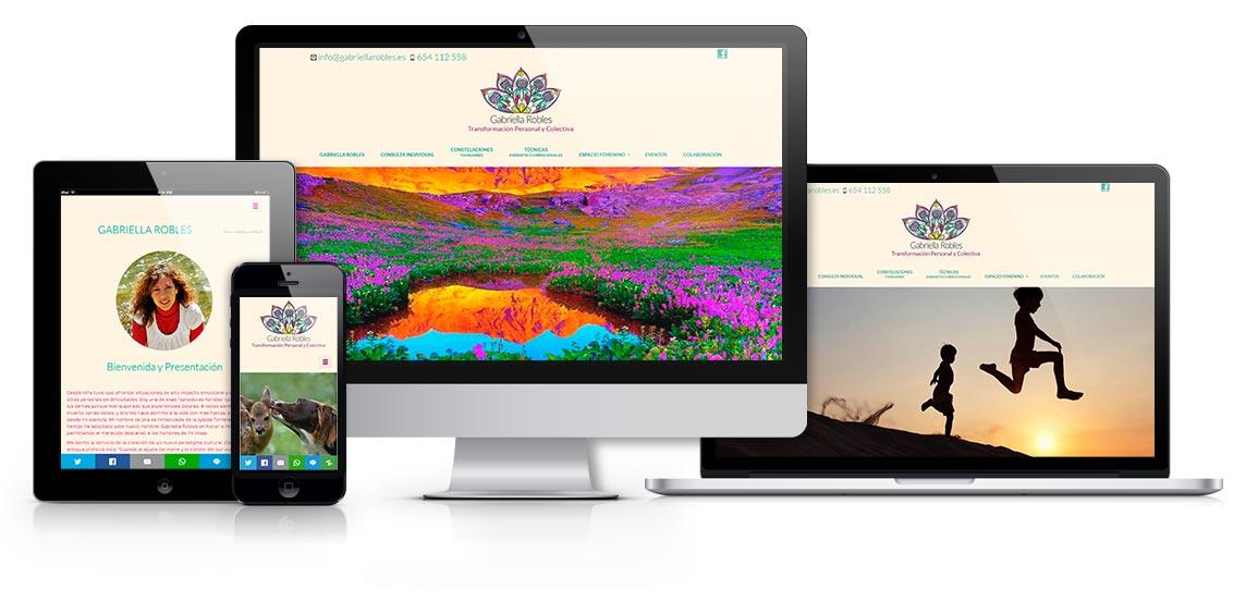 Gabriella Robles diseño web responsive - Msalas Kreación