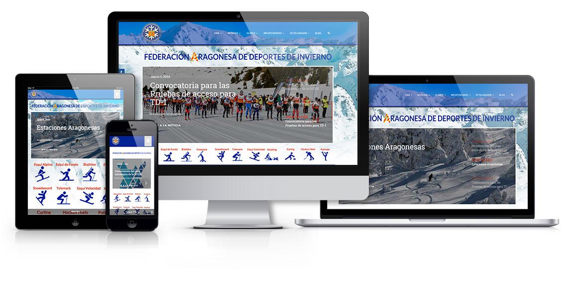 Federación Aragonesa de Deportes de Invierno, Logo