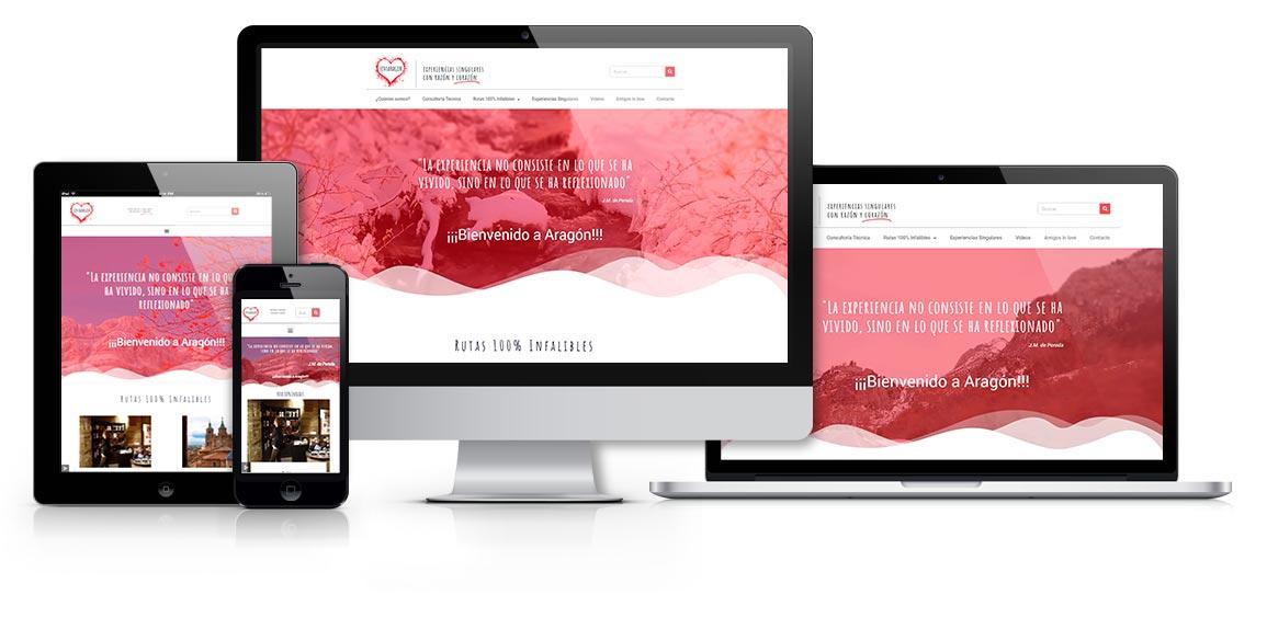 Love Aragón, diseño web msalaskreacion web responsive