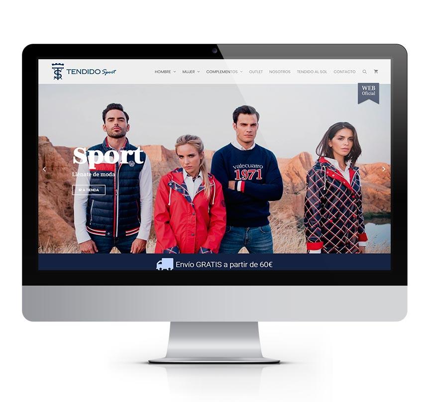Tendido Sport tienda de moda - msalaskreación web