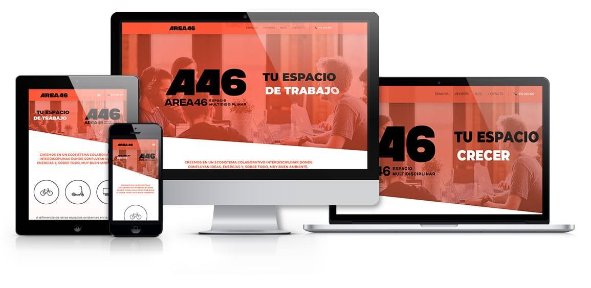 AREA46 Espacio Multidisciplinar web responsive