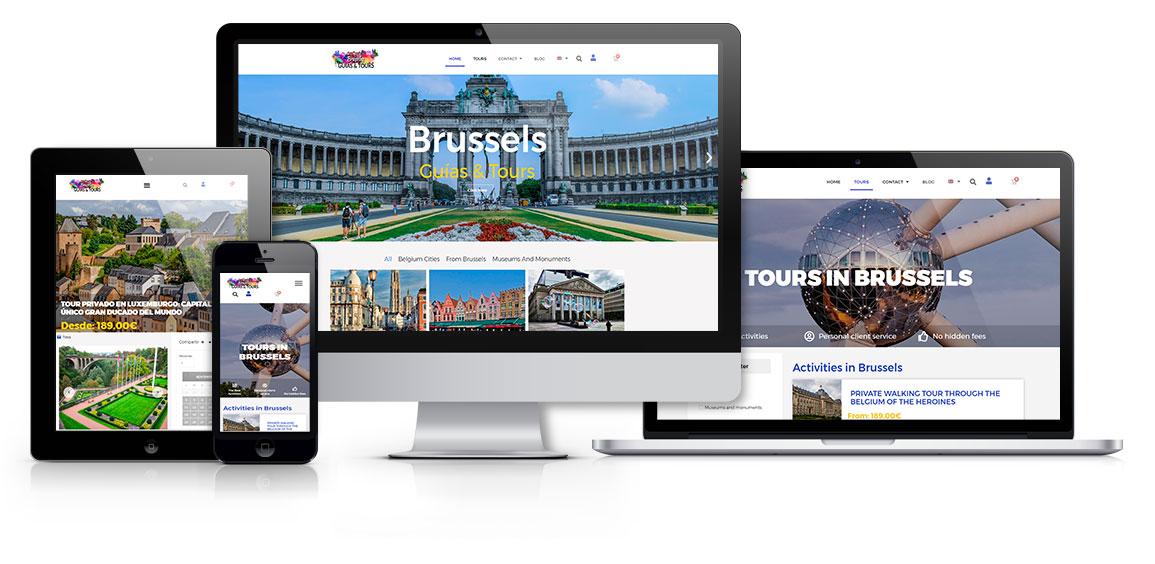 Bruselas Guías y Tours responsive msalaskreación web