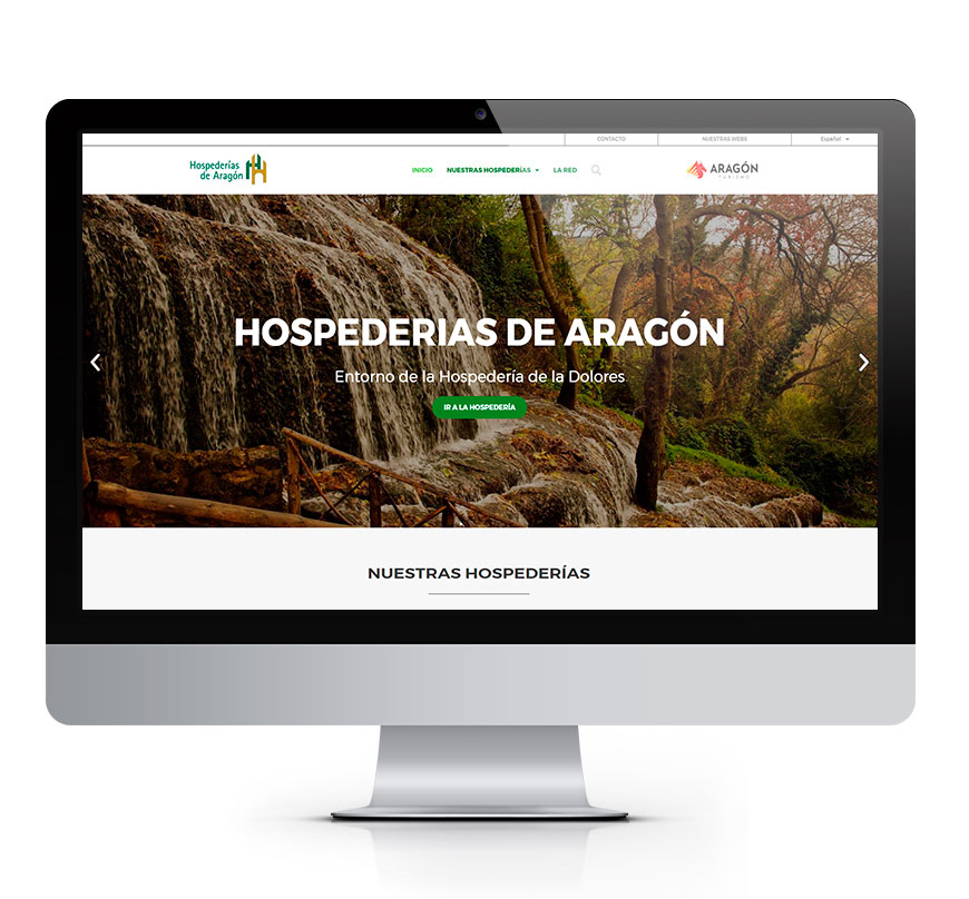 Hospederías de Aragón diseño web msalaskreacion