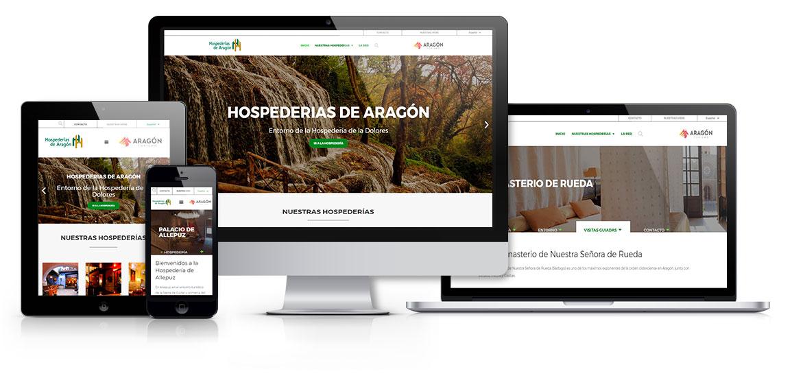 Hospederías de Aragón diseño web msalaskreacion web