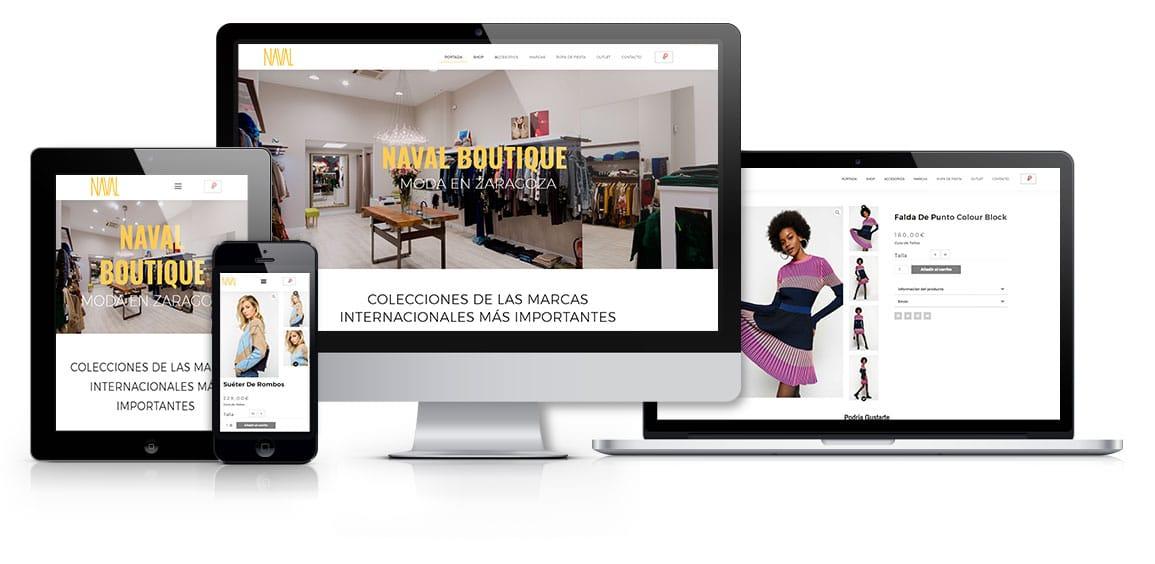 Diseño tienda online Naval Boutique Moda marcas internacionales