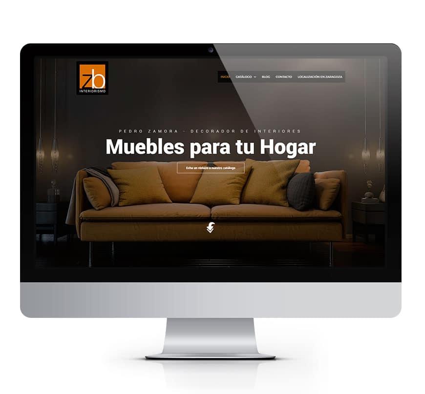 Zb Interiorismo en Zaragoza diseño web