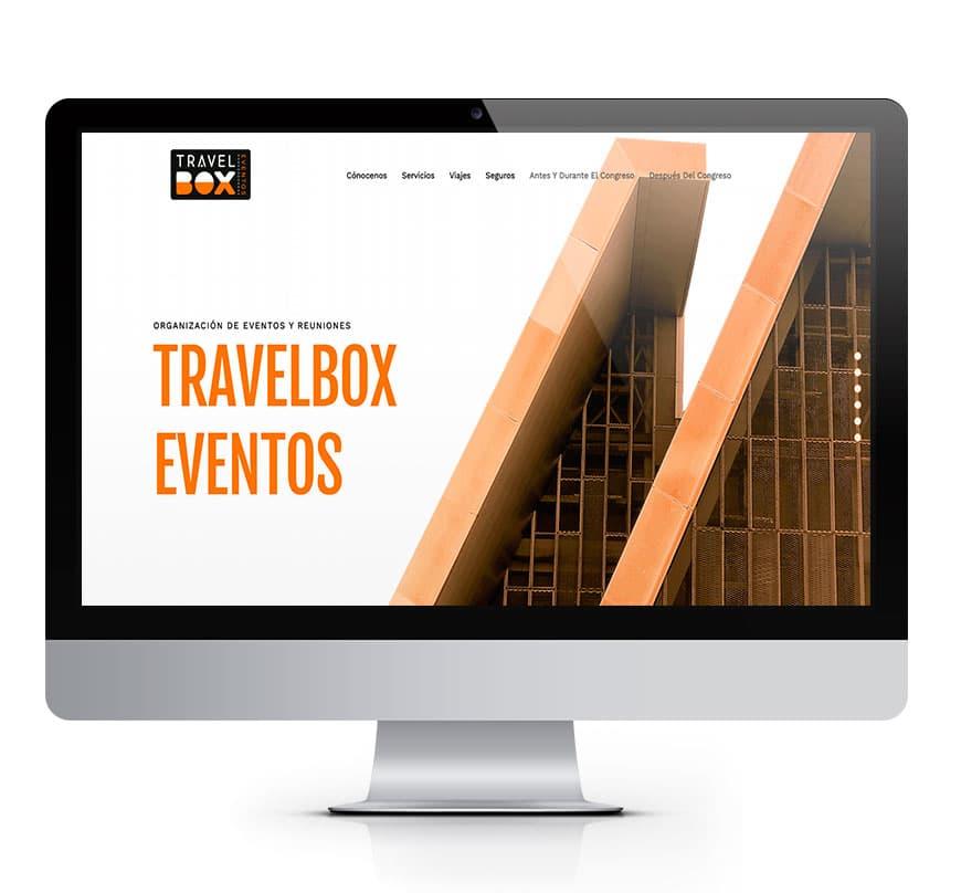 Diseño web Travel Box Eventos organización viajes