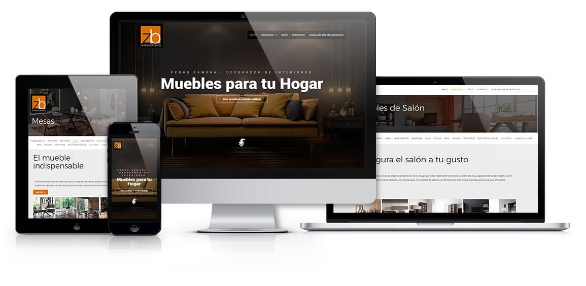 Zb Interiorismo diseño web