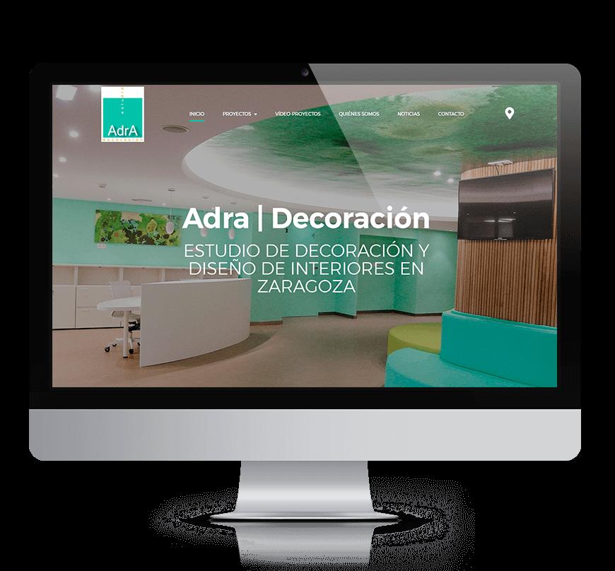 Adra Decoración e Interiorismo Rediseño web