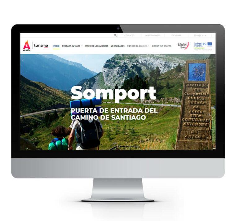 Web Camino de Santiago por Aragón. Turismo de Aragón