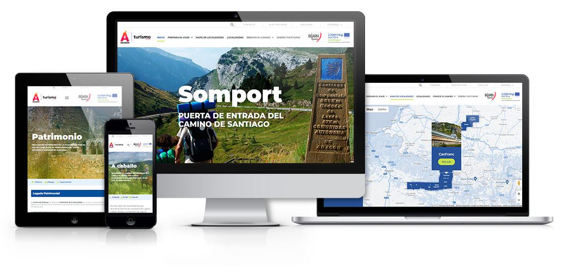 Web Camino de Santiago por Aragón. Turismo de Aragón 2