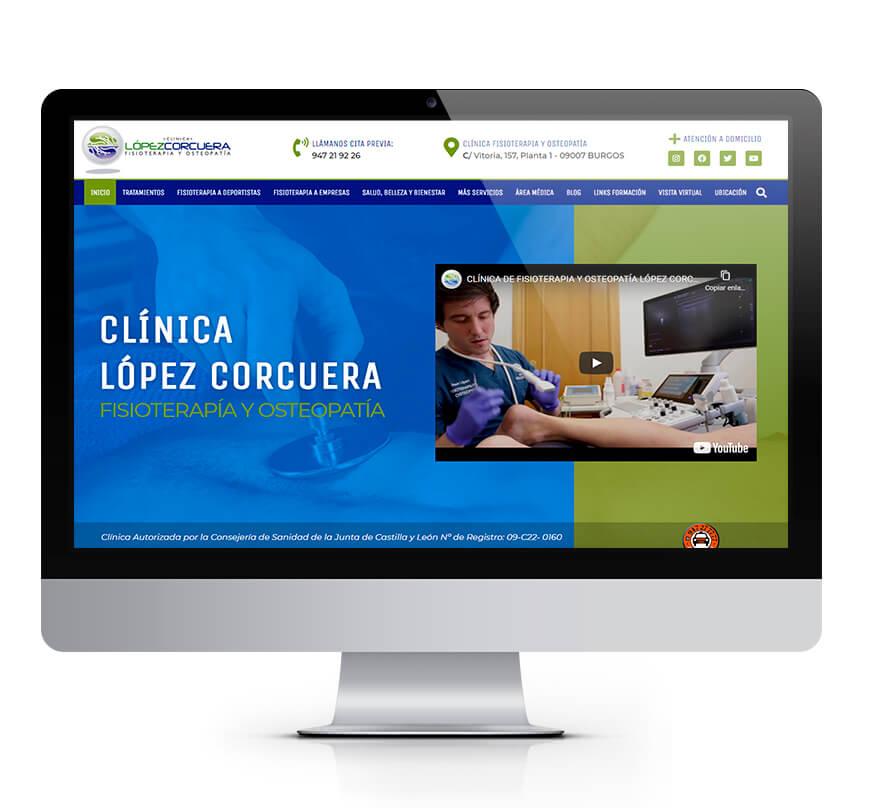 Clínica López Corcuera sitio web
